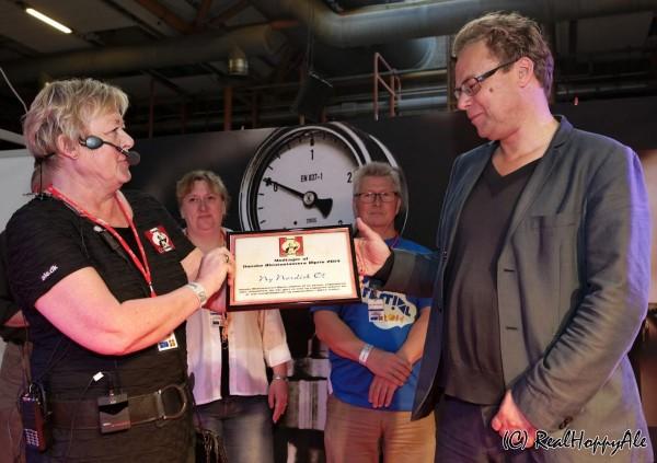 Årets Danske Ølpris 2014 Ny Nordisk Øl prisoverrækkelse