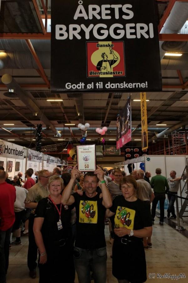 Årets Danske Bryggeri 2014 Hornbeer banner