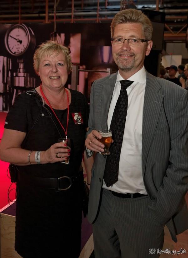 Ølfestival København 2014 Anne Lise Knørr og Frank Jensen