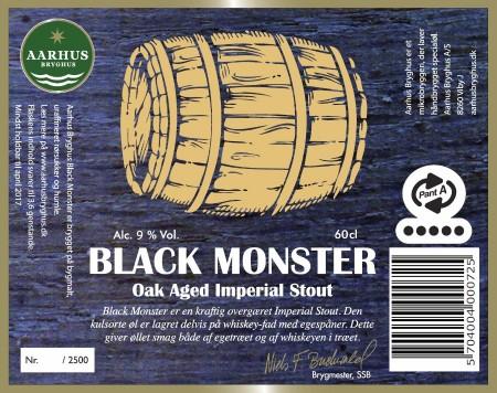 Aarhus Bryghus Black Monster etiket