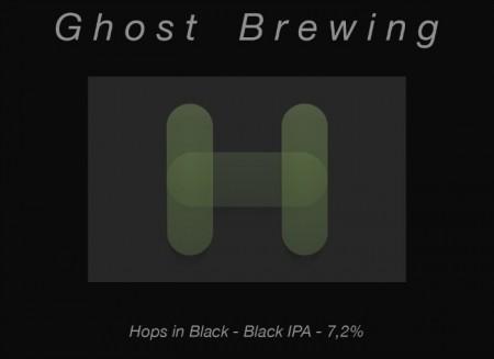 Ghost Brewing Hops In Black
