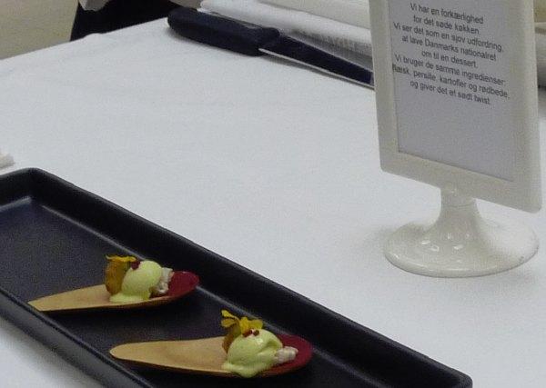Hotel- og Restaurantskolen persilleis med stegt flæsk