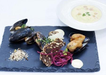 Humlen af Gastronomi Le bier muslinge