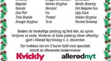 Kvickly Allerød julebryg 2014