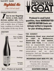 Mountain Goat Beer Hightail Ale