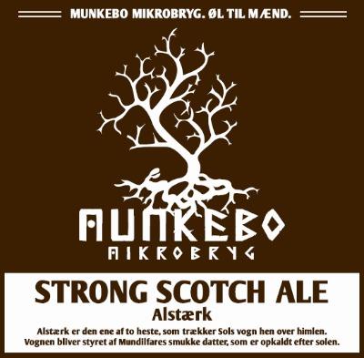 Munkebo mikrobryg alstærk strong scotch ale (9,4%): brygget ved