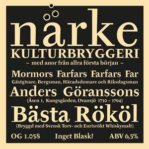 Närke Kulturbryggeri Anders Göranssons Bästa Rököl