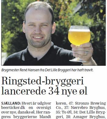 Nye danske øl 2013 Dagbladet Sjællandske Nordvestnyt