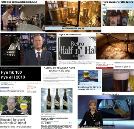 Nye danske øl 2013 medierne