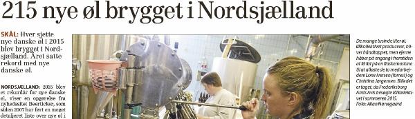 Nye danske øl 2015 Frederiksborg Amts Avis