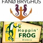 Ølnoter: Fanø, Hoppin' Frog, Mikkeller, Flying Couch, Frederiksodde, Hornbeer, Bøgedal osv.