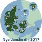 Ølrekorder Danmark rundt i 2017 – rekordåret med 1.622 nye danske øl